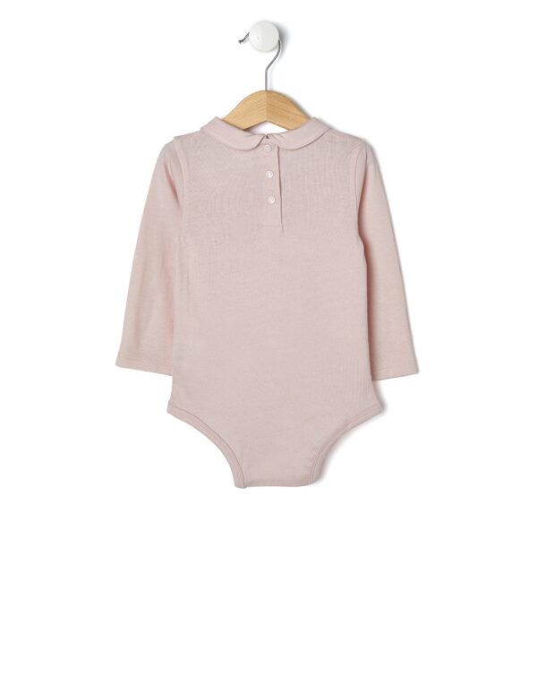 Body rosa a maniche lunghe e colletto - Prénatal