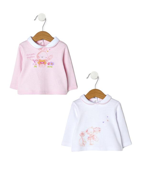 Pack 2 coprifasce bianche e rosa con animaletti - Prénatal