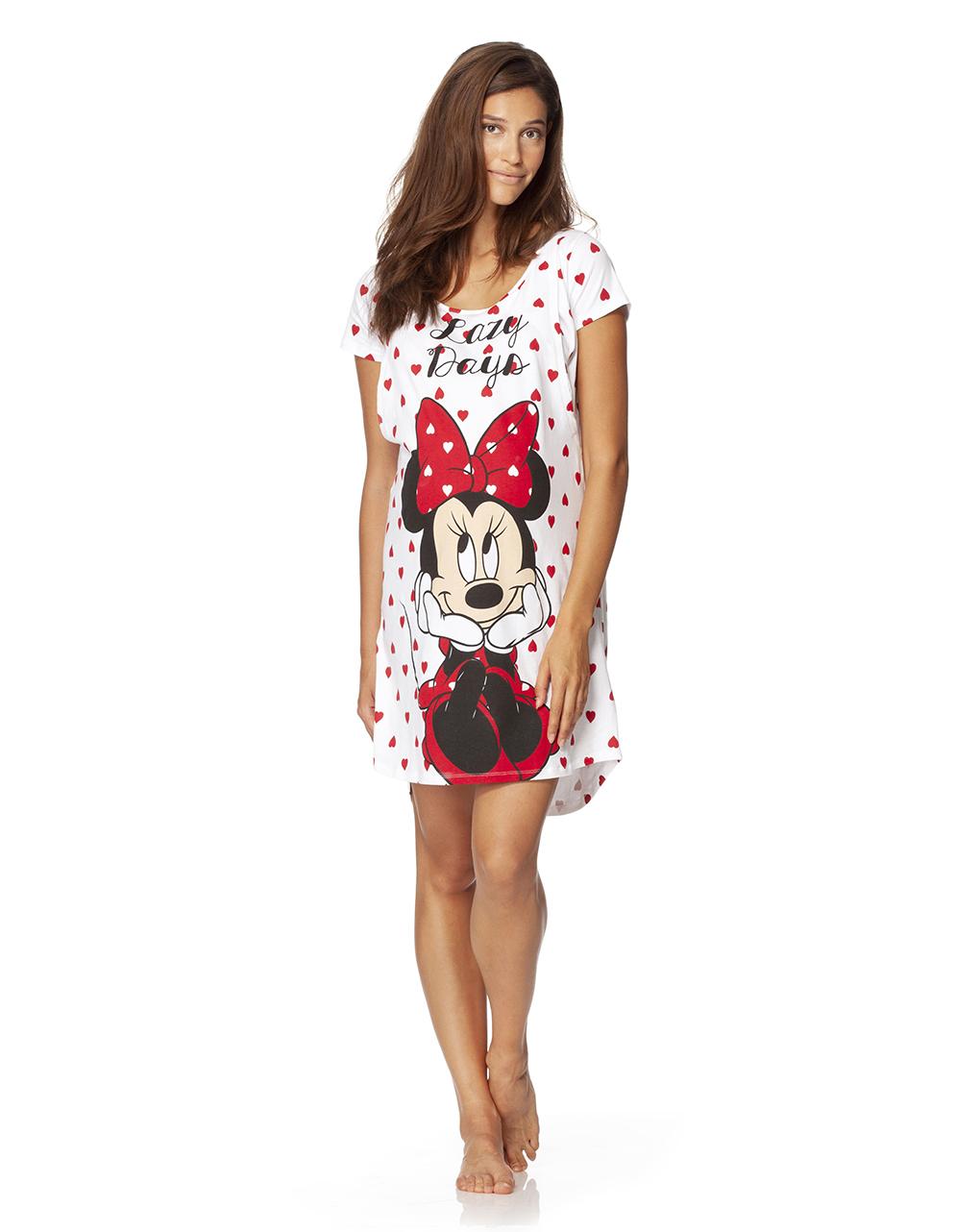 speciale per scarpa tecniche moderne acquisto speciale Camicia da notte a maniche corte con Minnie e cuori