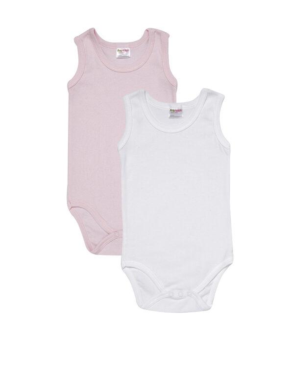 Pack da 2 body bianco e rosa - Prénatal