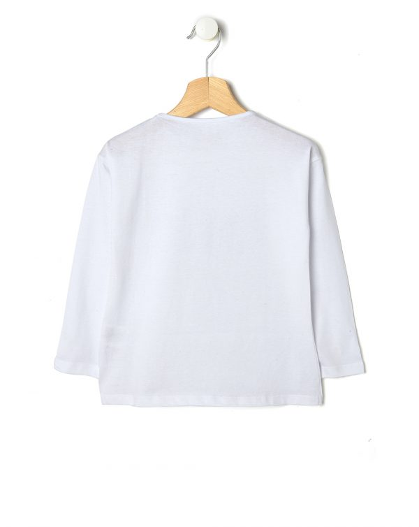 T-shirt bianca con scritta Wish - Prénatal