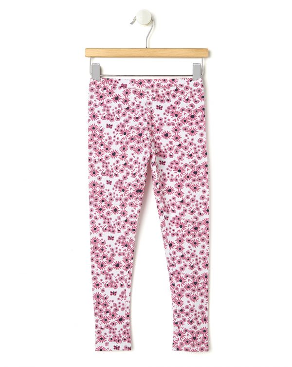 Leggings con stampa margherite rosa - Prénatal