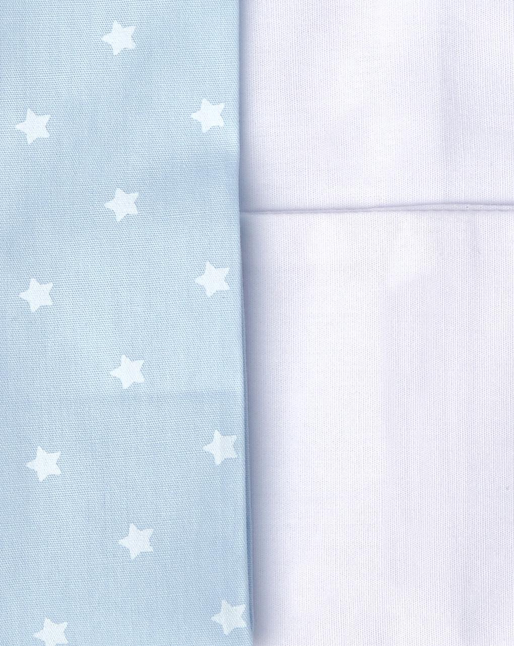 Cullacarrozzina/completo 3 pezzi con stampa orsetto e stelline azzurre - Prénatal