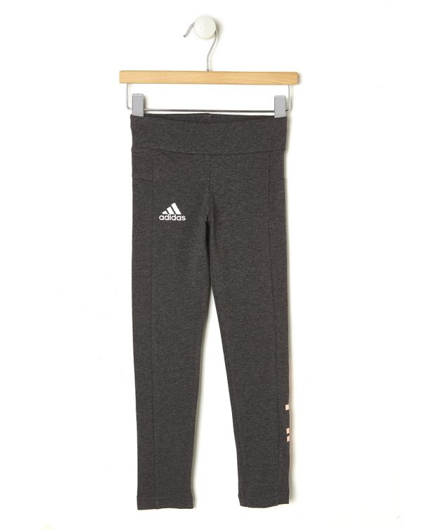 Leggings grigio scuro mélange con Adidas in rosa - Prénatal
