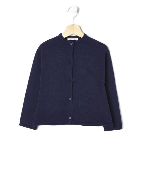 Cardigan in tricot blu scuro con bottoni - Prénatal