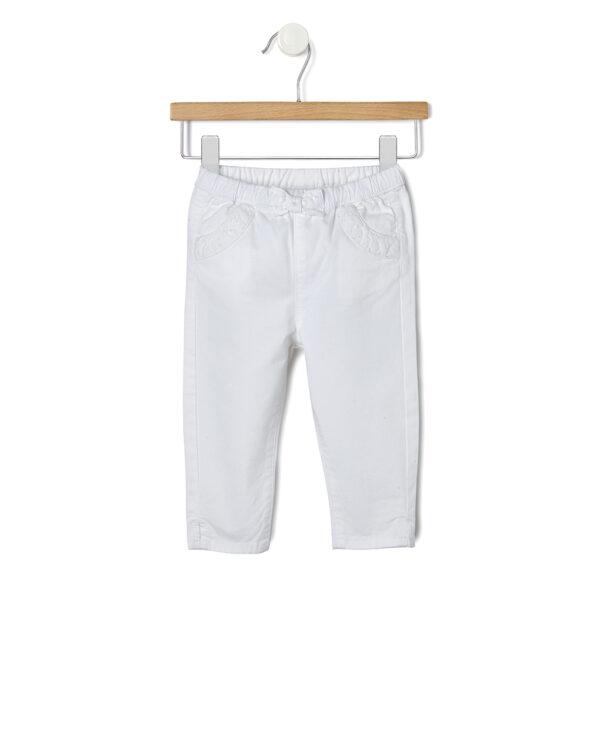 Pantalone twill con inserti in sangallo - Prénatal