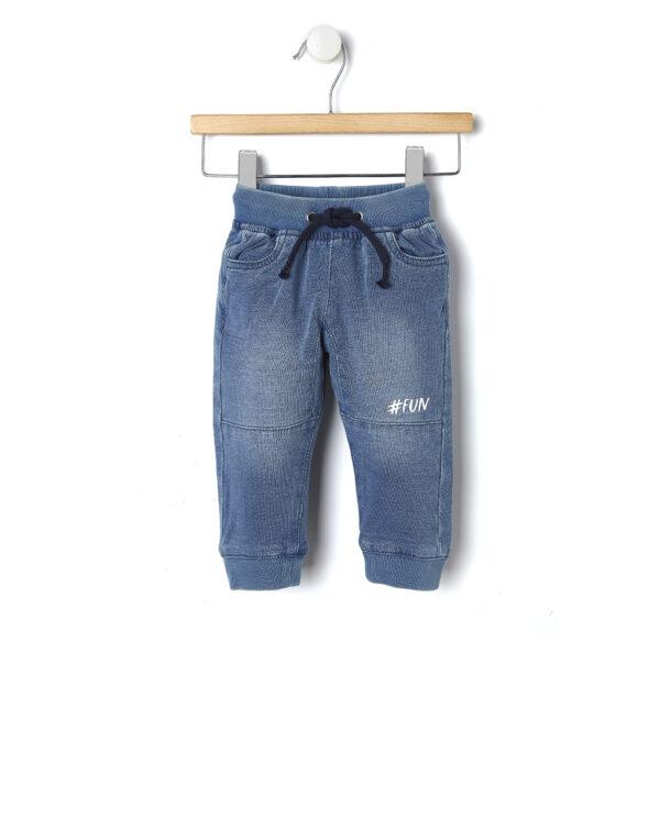 Pantaloni in felpa effetto denim - Prénatal
