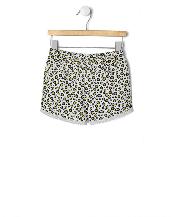 Shorts bianco con stampa all-over effetto maculato - Prénatal