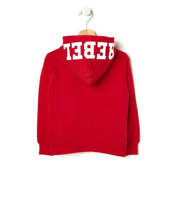Cardigan in felpa rossa con scritta Over - Prénatal