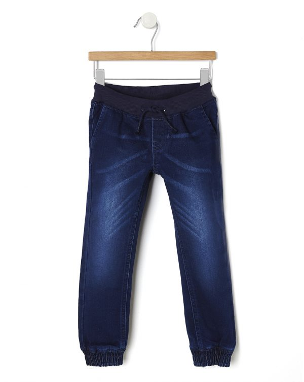 Pantaloni in denim con elastico alle caviglie - Prénatal