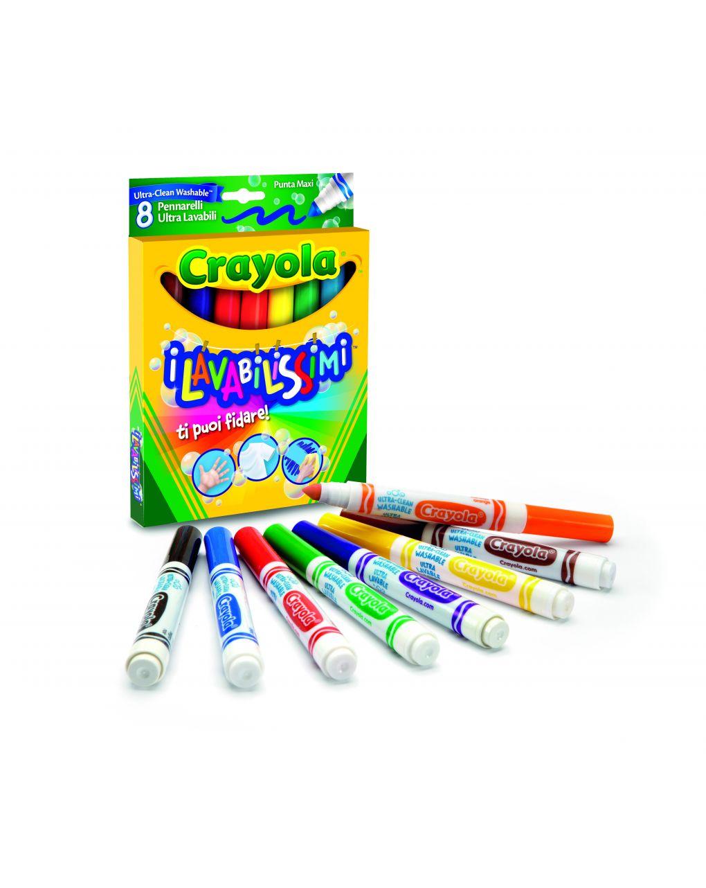 Crayola - 8 pennarelli p.maxi ultra lavabili - Crayola