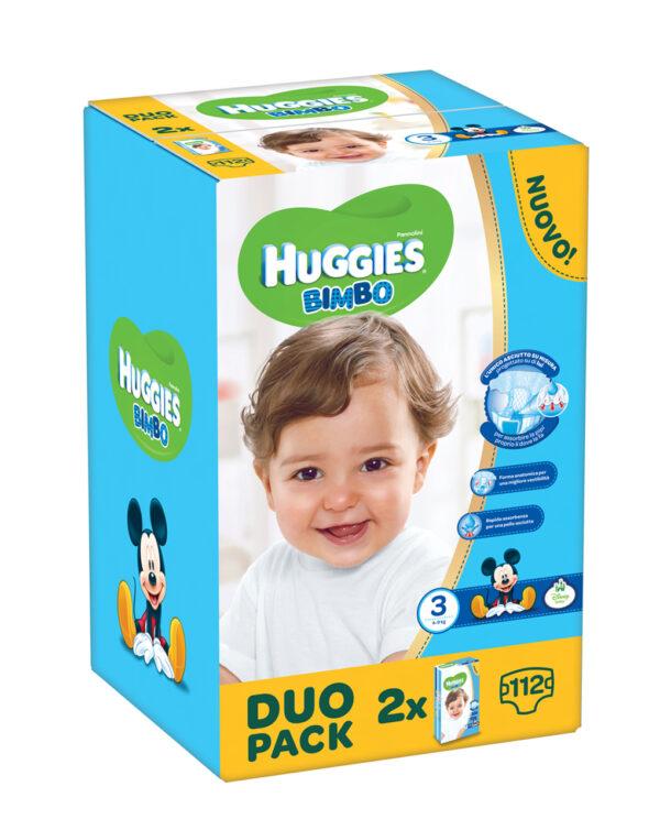Huggies - Pannolini Bimbo duopack tg. 3 (112 pz) - Huggies