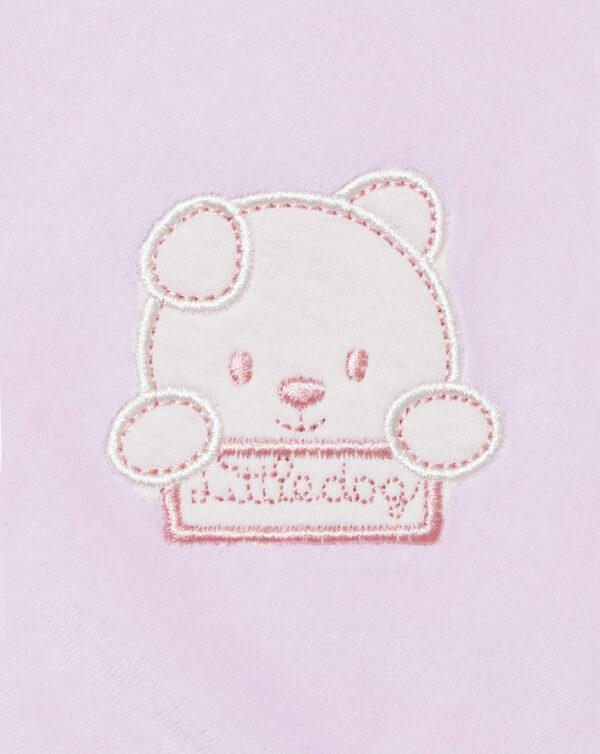 Copertina per culla e carrozzina in ciniglia rosa - Prénatal