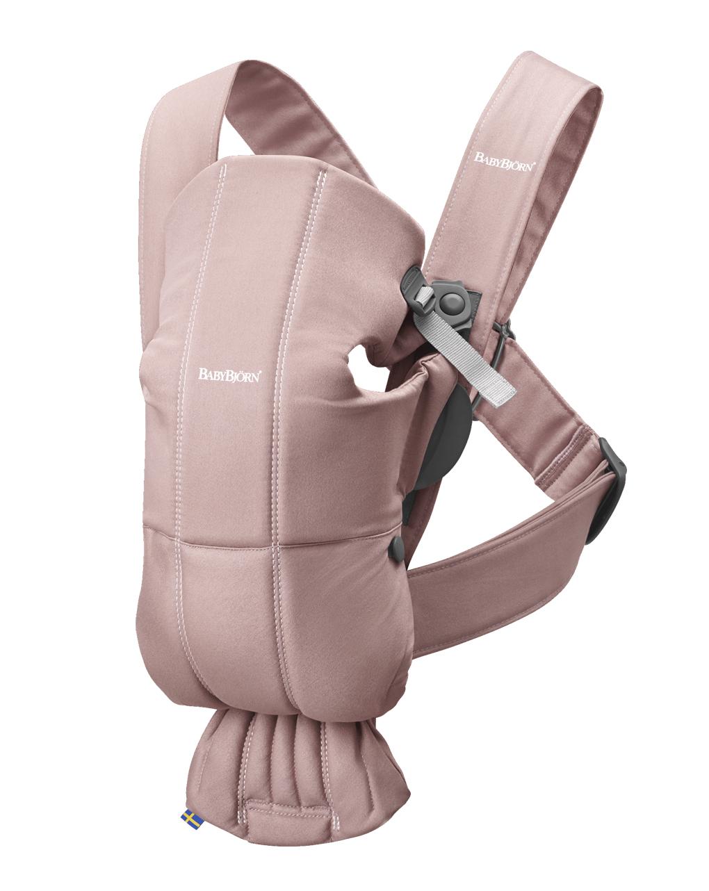 Marsupio baby carrier mini dusty pink cotton - Baby Bjorn