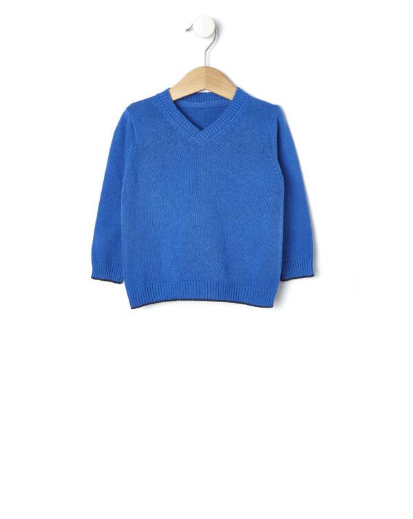 Maglia in tricot blu - Prénatal