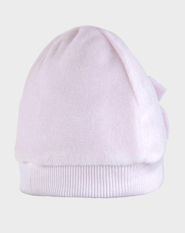 Cappello in ciniglia rosa chiaro con fiocchi - Prénatal