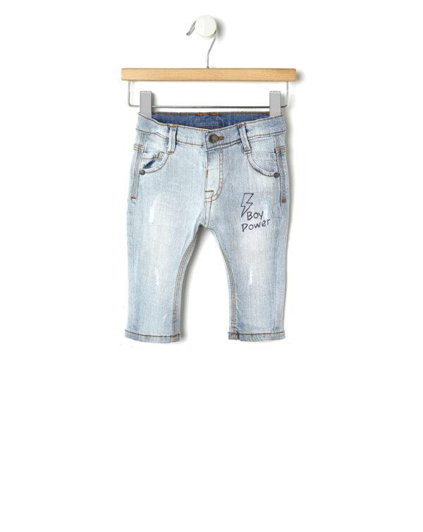 Pantalone denim con stampa - Prénatal