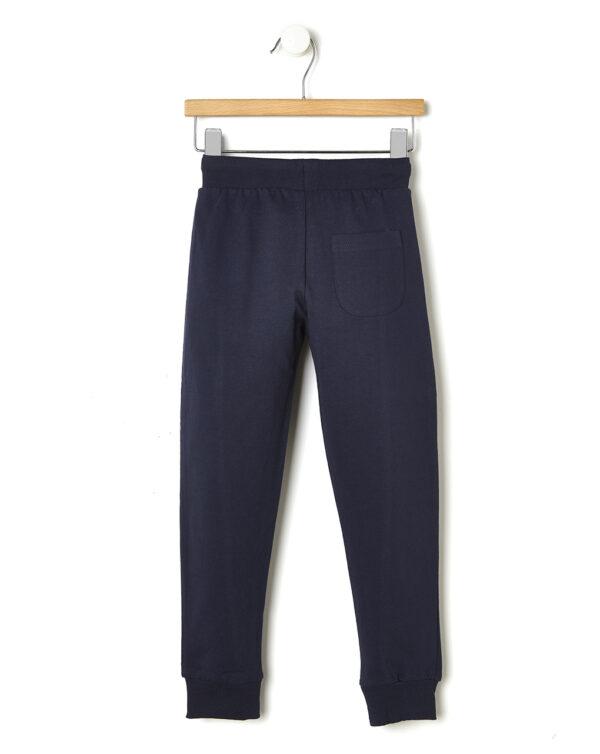 Pantaloni in felpa blu scuro con stampa laterale - Prénatal