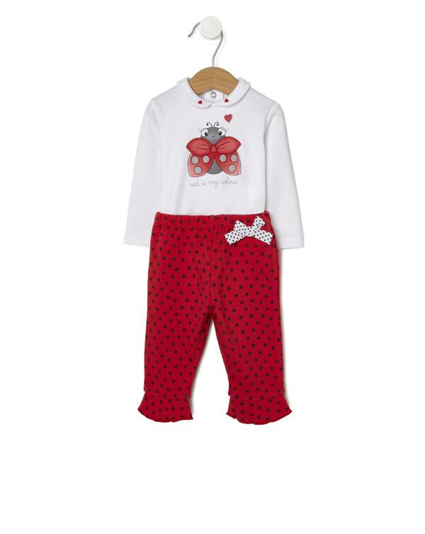 Set con body e pantaloni con coccinella rossa - Prénatal