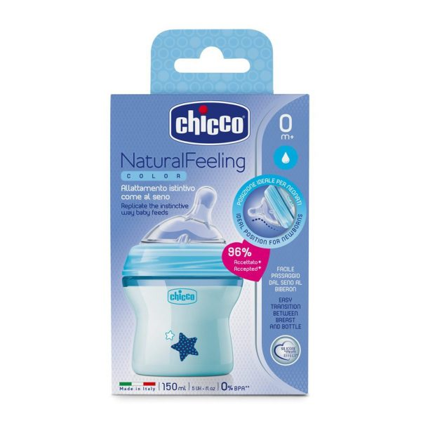Biberon Natural Feeling 0M+ blu    - Chicco