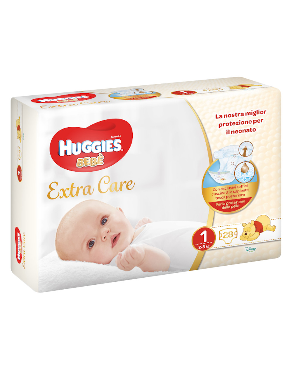 Huggies bebè extra care (2-5kg) - 28 pz - Huggies