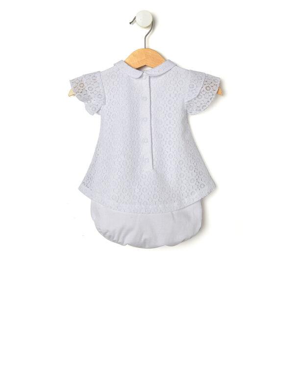 Pagliaccetto in jersey di pizzo bianco - Prénatal