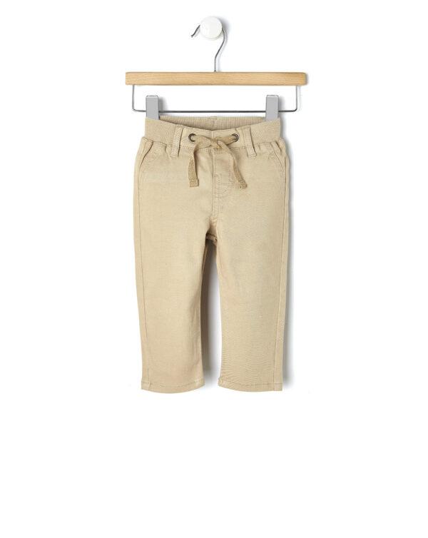 Pantaloni beige con coulisse in vita - Prénatal