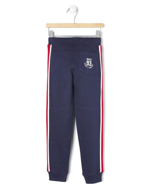 Pantaloni blu con bande laterali - Prénatal