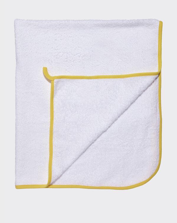 Spugna quadrata bianca profilato giallo - Prénatal