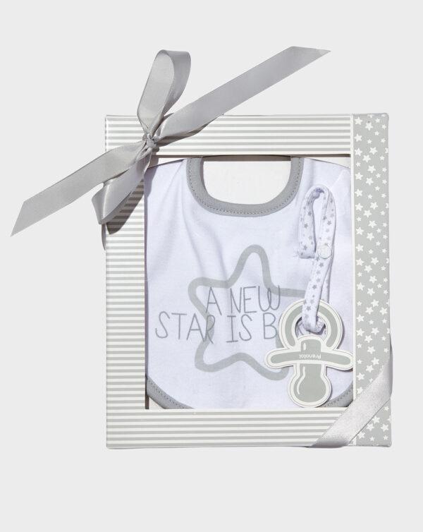 Confezione regalo con bavaglino e nastro ciuccio - Prénatal