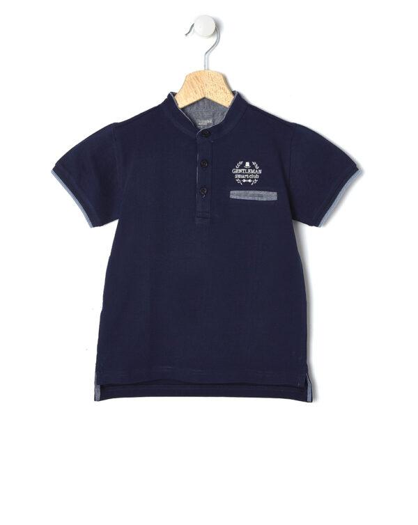 Polo blu scuro con taschino - Prénatal
