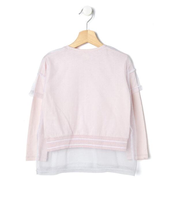 T-shirt rosa con rete bianca con scritta - Prénatal