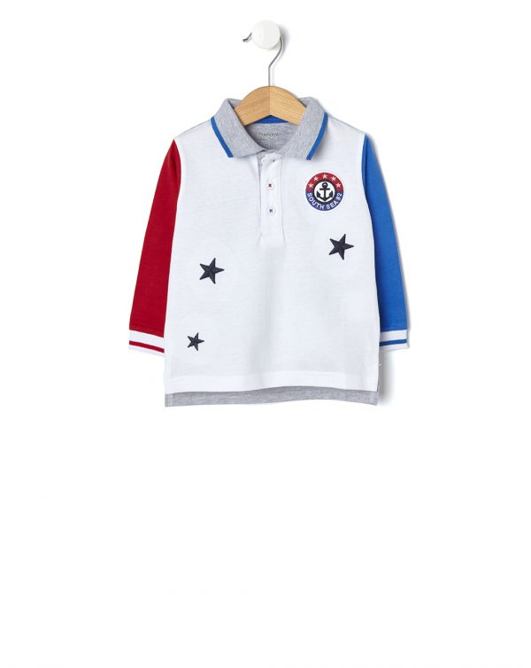 Polo multicolor con stelle e patch - Prénatal