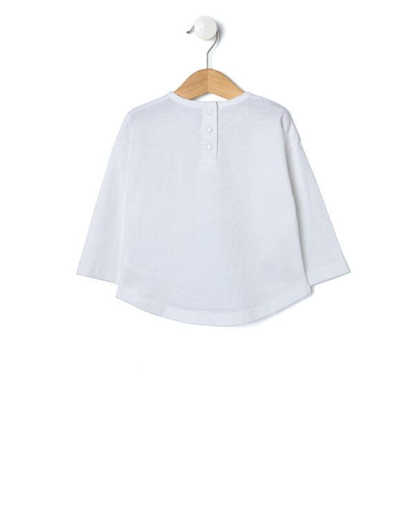 T-shirt panna con gattina e cuori - Prénatal
