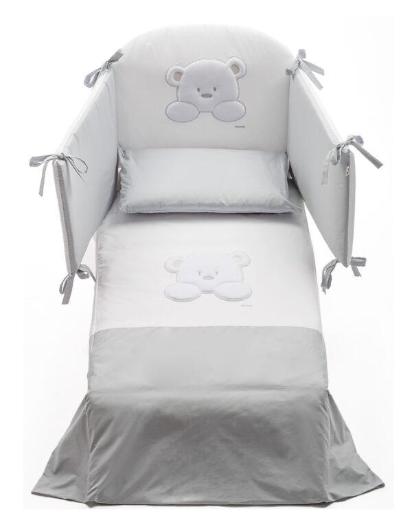 Set letto Teddy 4 pezzi paracolpi-piumino-copripiumino-federa - Prénatal
