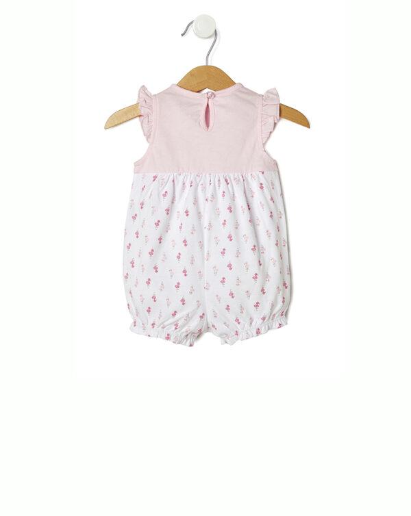 Pagliaccetto rosa e bianco con fenicotteri - Prénatal