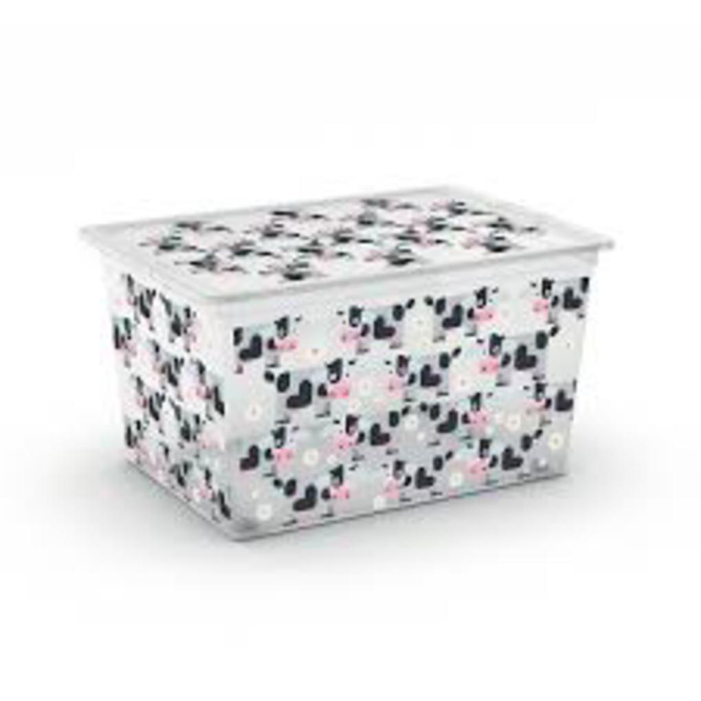C-box cute animals xl con ruote - 55x38, - Kis