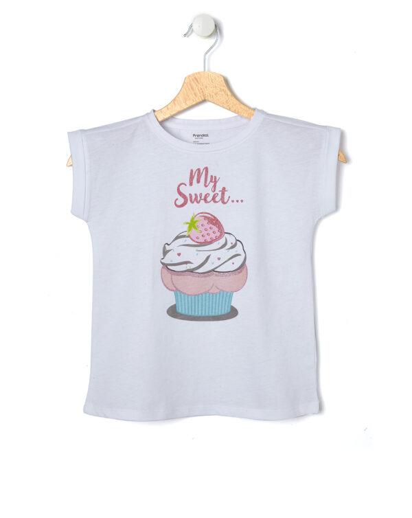 T-shirt mezza manica con stampa glitter - Prénatal