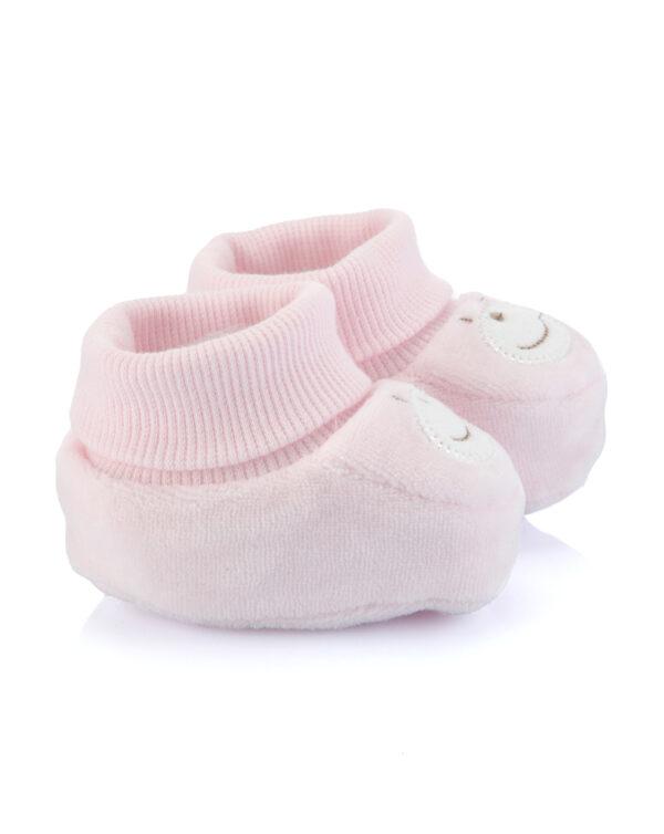 Scarpe in ciniglia rosa chiaro con orsetto - Prénatal