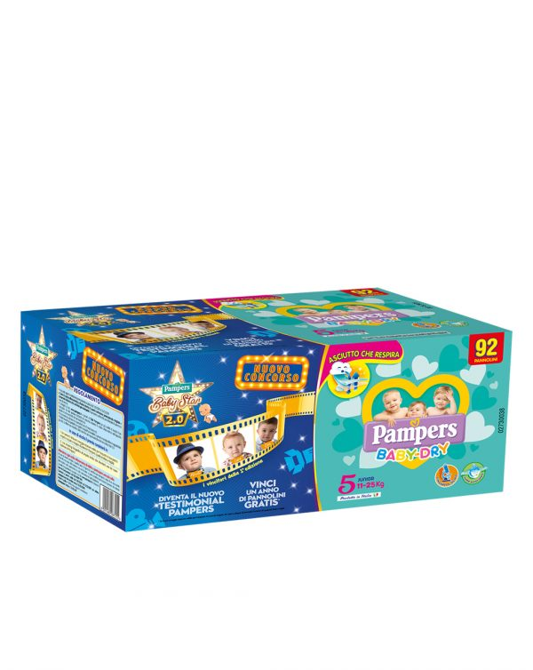 Pacco quadruplo Baby Dry Junior (11-25 Kg) - Pampers