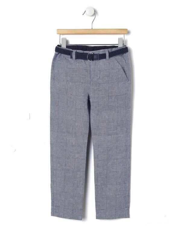 Elegante pantalone blu con cintura intrecciata - Prénatal
