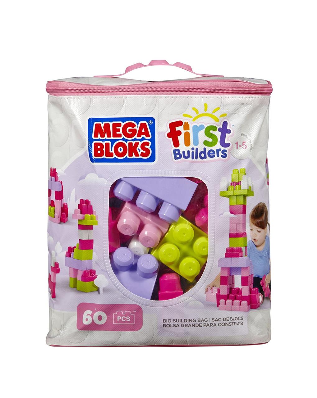 Mega bloks - sacca bio 60 blocchi da costruzione - Mega bloks