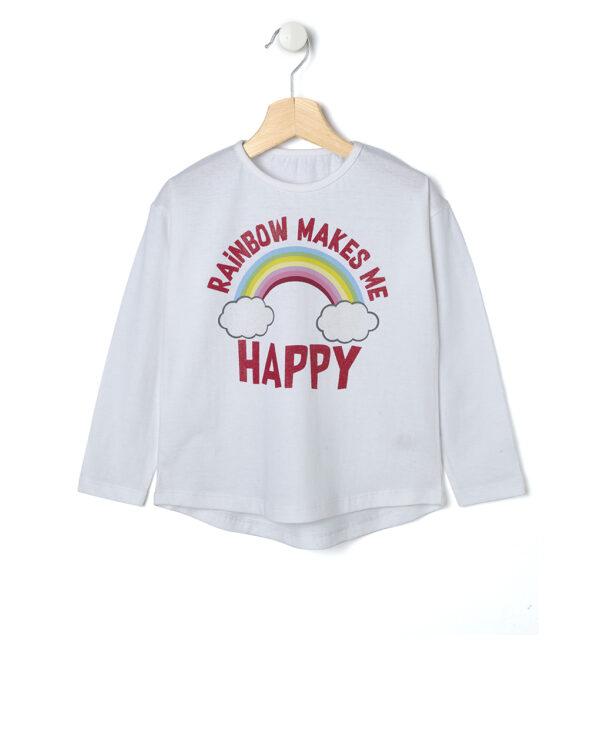 T-shirt bianca con arcobaleno - Prénatal