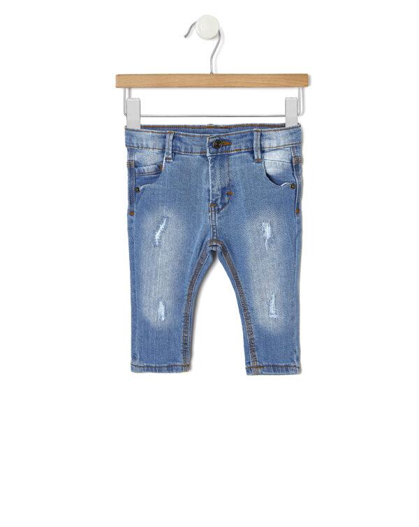 Pantaloni in denim con parti strappate - Prénatal