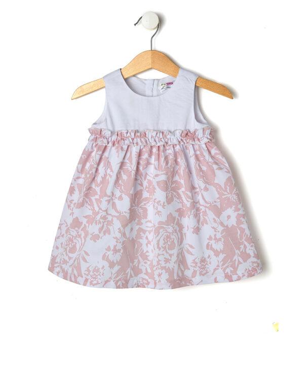 Elegante abito bianco e a fiori rosa - Prénatal