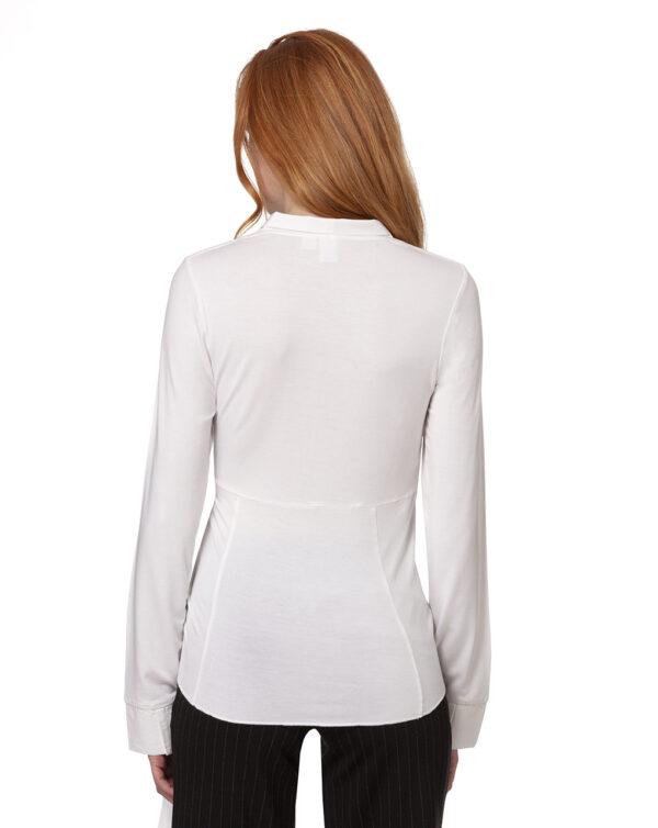 Camicia bianca allattamento con cintura - Prénatal