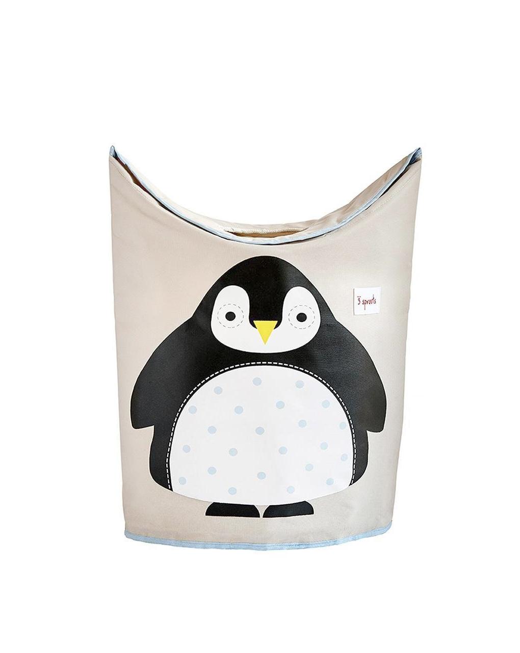 Cesta portabiancheria pinguino - 3 sprouts