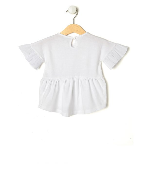 T-shirt bianca con fiori - Prénatal