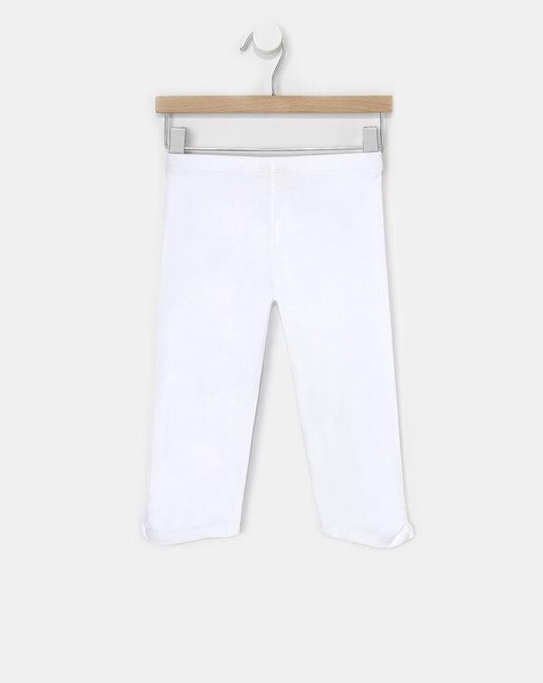 Leggings 3/4 basico tinta unita bianco - Prénatal