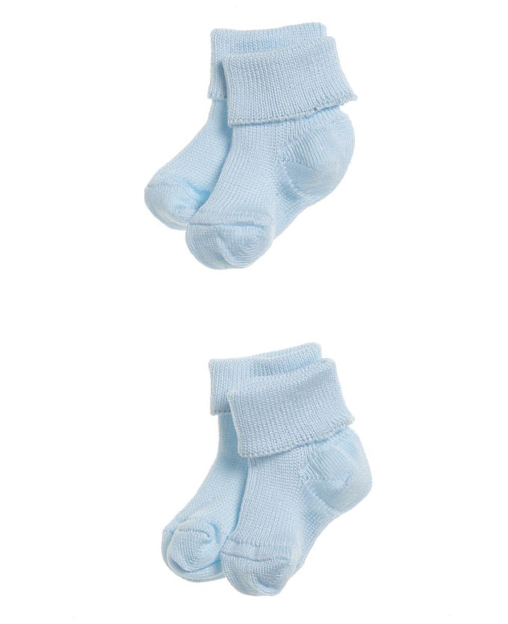 Pack 2 calzine azzurre per prematuri - Prénatal